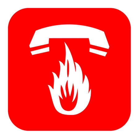 Vector fire emergency sign