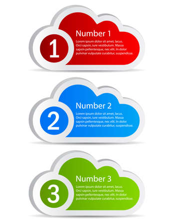 Cloud shaped option labels,  illustration