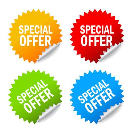 special offer labels set