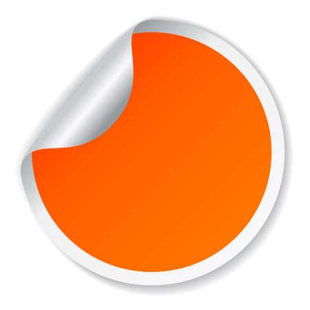 Vector orange sticker