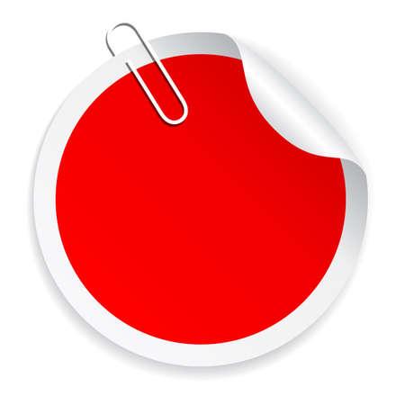 Blank red sticker