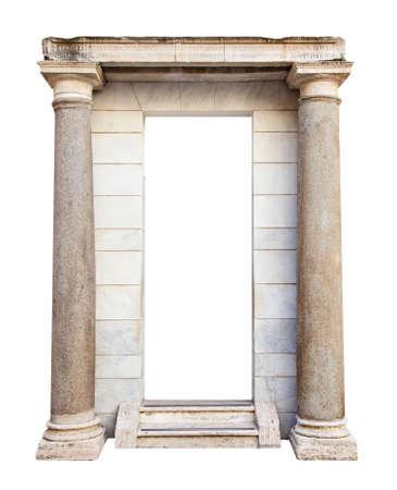 Ancient roman entrance with columns