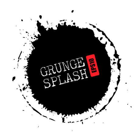 Grunge splash circle vector illustration