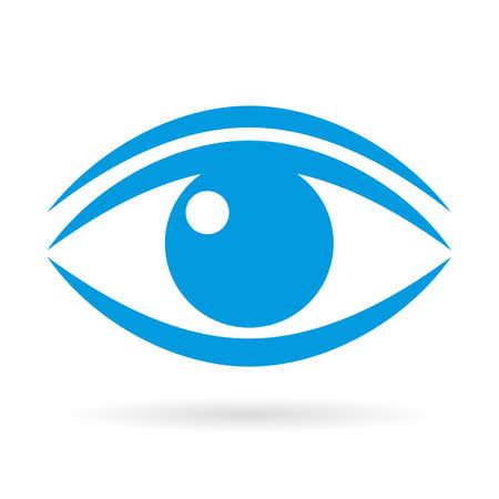 Blue eye vector icon