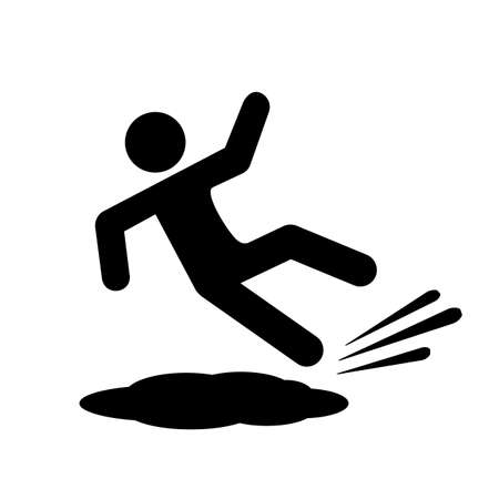 Slippery floor vector icon