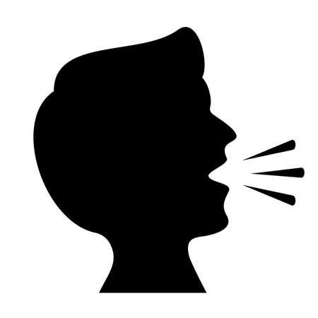 Illustration pour Cough vector icon isolated on white background - image libre de droit