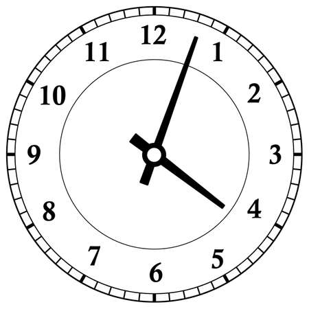 Illustration for Clock dial face vector illustration on white background - Royalty Free Image