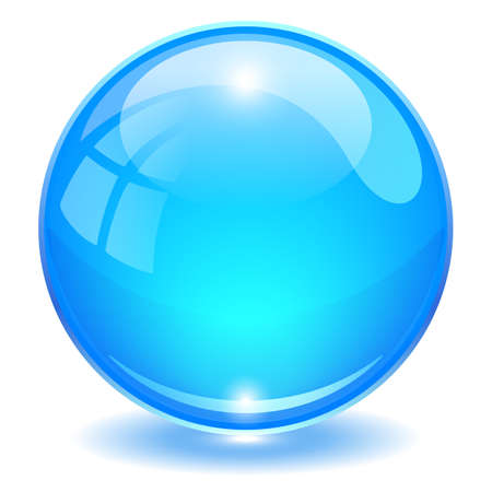 Illustration pour Blue glass ball vector illustration isolated on white background - image libre de droit