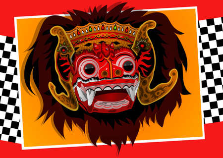 Barong Bali Royalty Free Vector Graphics