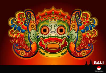 Barong Bali 2 Royalty Free Vector Graphics
