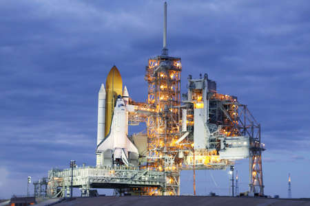 Photo pour Launch pad of the space shuttle. Elements of this image were furnished by NASA For any purpose. - image libre de droit