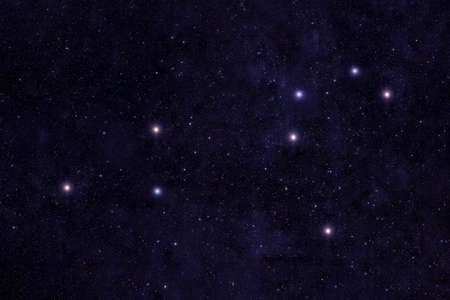 Photo for Constellation lion. Against the background of the night sky. - Royalty Free Image
