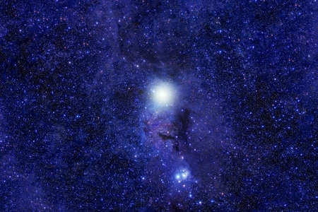 Foto de Blue beautiful galaxy. - Imagen libre de derechos