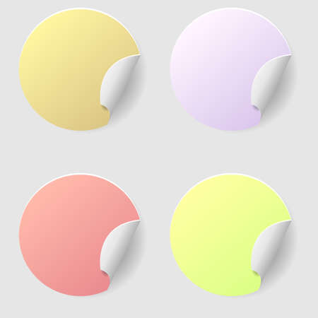 Blank stickers set isolated Empty price tags: Royalty-free