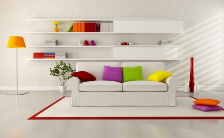 white elegant couch in a modern living room