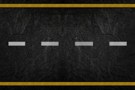 Pattern on road texture with yellow and white stripe