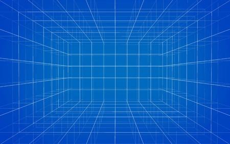 Photo pour Background of matrix wireframe - image libre de droit