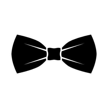 Illustration for Black bow tie icon. Isolated sign bow tie on white background in flat design. Vector illustration - Royalty Free Image