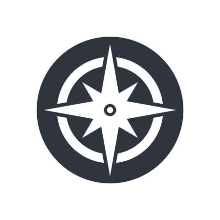 Illustration pour Compass graphic icon. Wind rose sign. Compass symbol isolated on white background. Vector illustration - image libre de droit