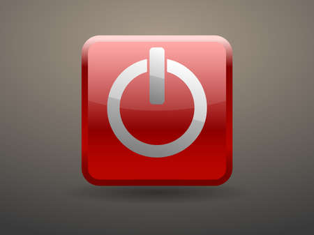 3d glossiness button icon of power