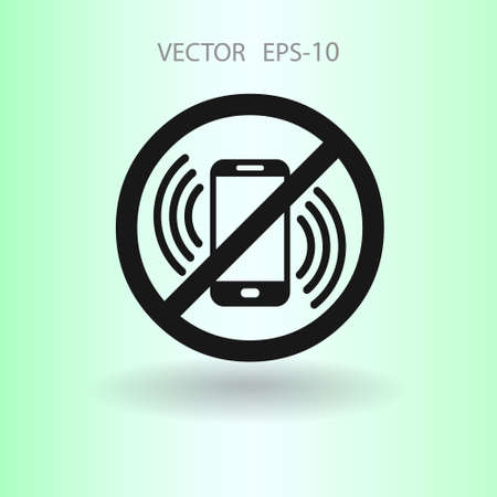 turn off phone icon. vector illustration
