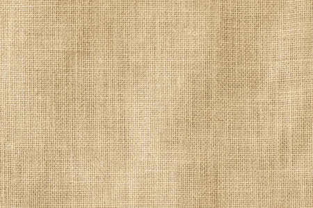 Photo for Hessian sackcloth woven texture pattern background in light cream yellow beige earth tone color  - Royalty Free Image
