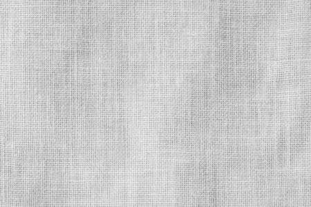 Photo pour Hessian sackcloth woven texture pattern background in light white gray color - image libre de droit