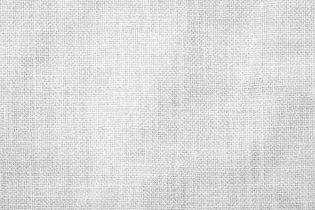 Photo pour Hessian sackcloth woven texture pattern background in light white grey - image libre de droit