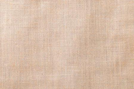 Photo pour Hessian sackcloth woven texture pattern background in light cream beige brown color - image libre de droit