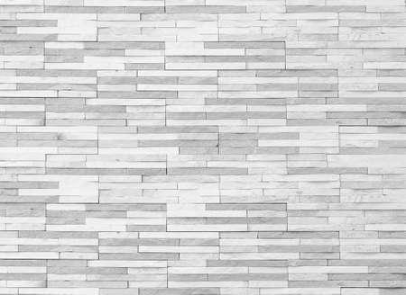 Photo pour Brick tile wall texture pattern background in white grey color  - image libre de droit