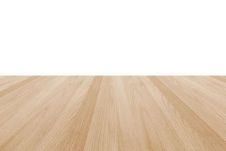 Photo for Wood floor texture in light cream beige brown color tone  isolated on white wall background - Royalty Free Image