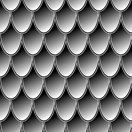 Illustration pour Seamless gray chain mail dragon scales. Dragon scale. Simple background for design. Vector illustration pattern texture - image libre de droit