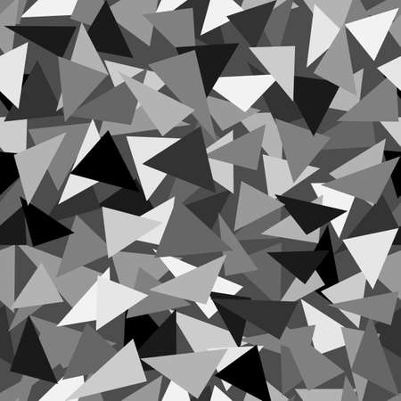 Illustration pour Seamless abstract vector pattern - repeat geometric triangle mosaic background - image libre de droit