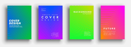 Illustration for Minimal covers design. Colorful halftone gradients. Modern Art graphics for hipsters. Vector template brochures, flyers, presentations, leaflet. - Royalty Free Image