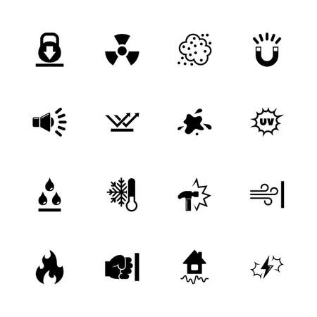 Illustration pour Influence icons - Expand to any size - Change to any colour. Flat Vector Icons - Black Illustration on White Background. - image libre de droit