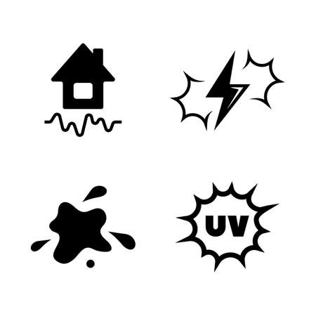Illustration pour External Influence Nature. Simple Related Vector Icons Set for Video, Mobile Apps, Web Sites, Print Projects and Your Design. External Influence Nature icon Black Flat Illustration on White Background - image libre de droit
