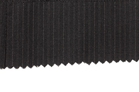Charcoal wool fabric with pinstripes