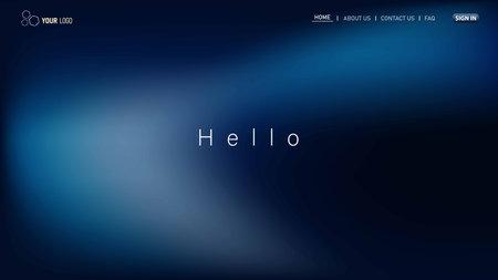 Illustration pour Minimalist landing page background. Website UI design background. Eps 10 vector - image libre de droit