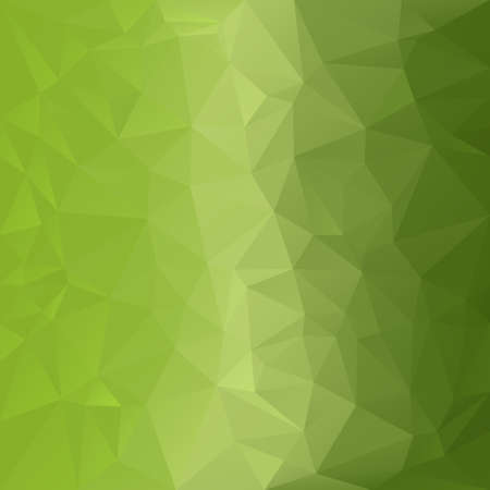 vector polygonal background with irregular tessellations pattern - triangular design in light green colors - greenery