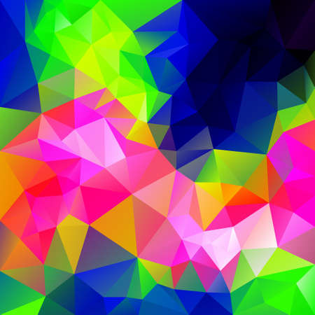 vector polygonal background with irregular tessellations pattern - triangular design in infra neon colors - full color spectrum