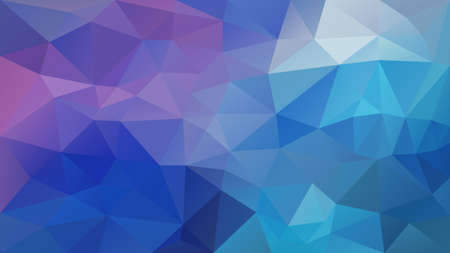 Illustration for vector abstract irregular polygon background - triangle low poly pattern - pastel blue purple violet color - Royalty Free Image