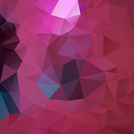Illustration for vector abstract irregular polygon square background - triangle low poly pattern - hot pink, magenta, fuscia, punch, blush, wine, burgundy red and blue color - Royalty Free Image