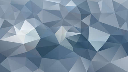 Illustration for vector abstract irregular polygon background - triangle low poly pattern - color slate gray blue silver - Royalty Free Image