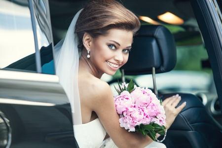 Beautiful happy young bride