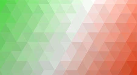 Illustration for Italy polygonal flag mosaic modern background. Geometric design vector illustration - Royalty Free Image
