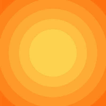 Illustration for orange circle gradation color background flat design vector illustration - Royalty Free Image