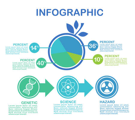 Illustration pour Business data visualization. Process chart. Abstract elements of graph, diagram with steps, options, parts or processes. Vector business template for presentation. Creative concept for infographic - image libre de droit
