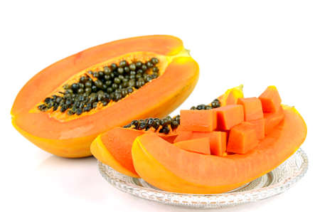Ripe papaya, Pawpaw or Tree melon (Carica papaya L) which Rich in Betacarotene, Vitamin C, Fiber and Papine Enzyme.