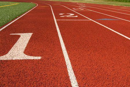 Start line in a running track