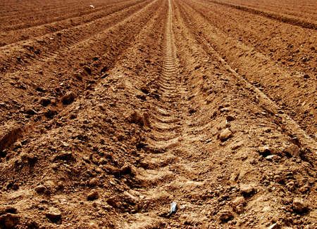 Sand on a brown agriculture acre